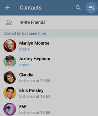 Sorting contacts on Android